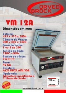 Seladora a vácuo VM 12A