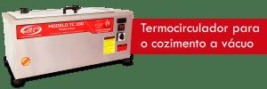 Neste passo é utilizado um termocirculador para o cozimento no sous vide