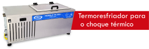 Neste passo o termoresfriador vai realizar o choque térmico no alimento para possibilitar o armazenamento