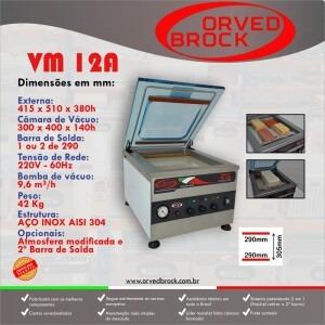 Fôlder eletrônico da nossa seladora a vácuo modelo VM 12A