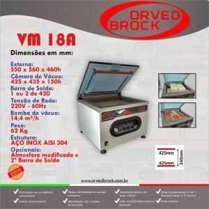 Fôlder eletrônico da nossa seladora a vácuo modelo VM 18A