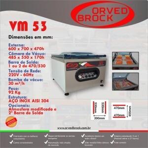 Fôlder eletrônico da nossa seladora a vácuo modelo VM 53