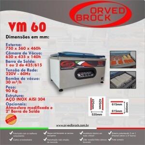 Fôlder eletrônico da nossa seladora a vácuo modelo VM 60
